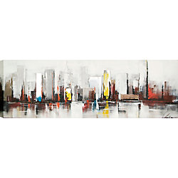 Art Maison Canada City by Claudia Original Painting on Wrapped Canvas