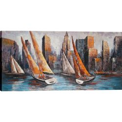 Art Maison Canada Bayward Sails by Luna Original Painting on Wrapped Canvas