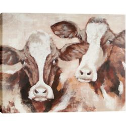 Art Maison Canada Cow Pals by Tina O. Original Painting on Wrapped Canvas