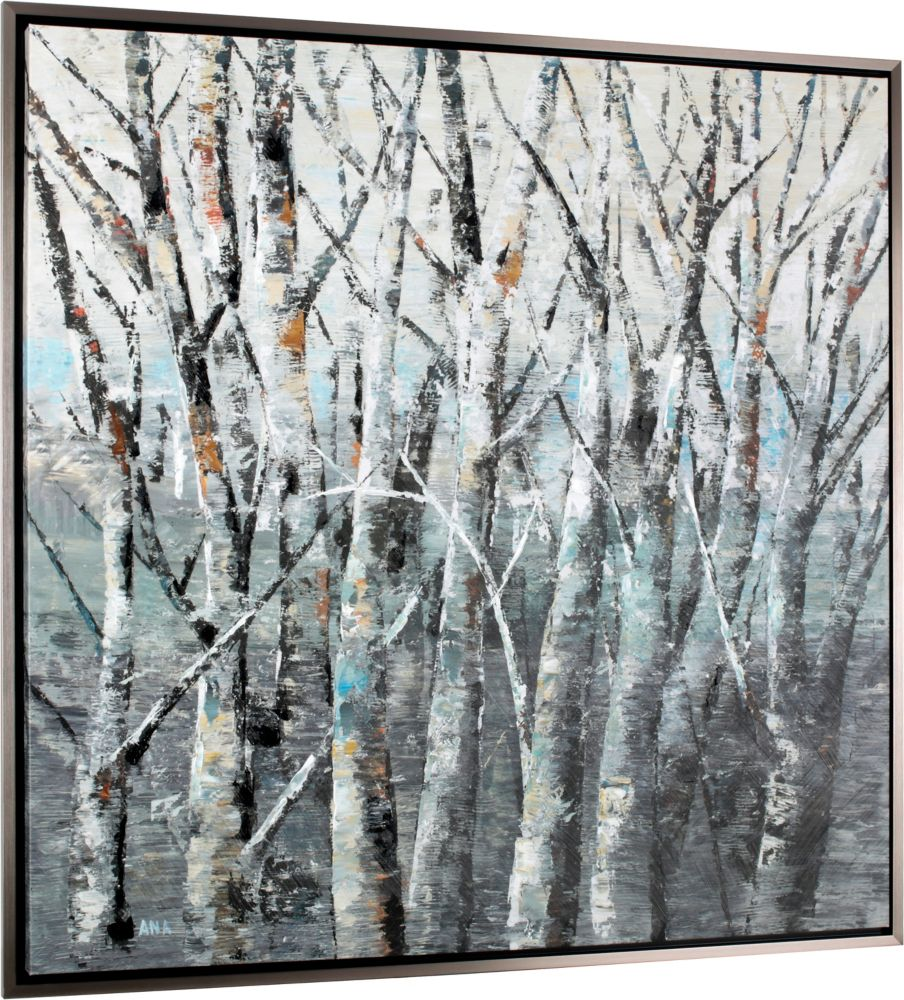 Art Maison Canada Birch Forest by Anastasia C. Framed Painting Print on Wrapped Canvas