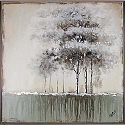 Art Maison Canada Green Tree II by Tina O. Framed Painting Print on Wrapped Canvas