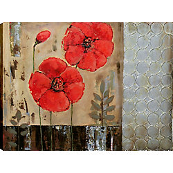 Art Maison Canada Geometric Floral I by Tina O. Original Painting on Wrapped Canvas