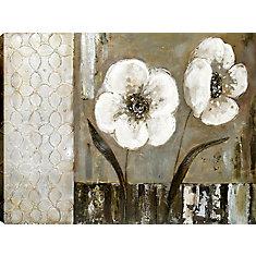 Géométrique floraux II par Tina O. Original peinture sur toile enveloppé
