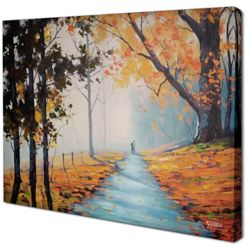 Art Maison Canada Fall Path by Graham Gercken Original Painting on Wrapped Canvas
