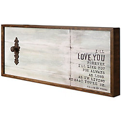 "Art Maison Canada 19"" H x 38"" W Ready to Hang 'Love You' by Christina Lovisa Framed Fresco Crafted Art"