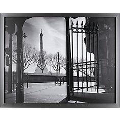 Paris porte de P.T. Turk. Encadré de tirage photographique