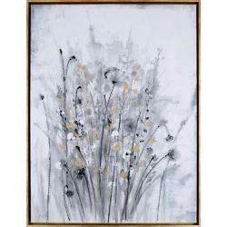 """Art Maison Canada 41,5"""" H x 31.5"""" W prêt à accrocher, encadré main peint toile «Or Floral II» par C. Anastasia"""
