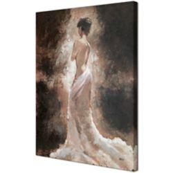 Art Maison Canada Pose de Lady par Anastasia C. Original peinture sur toile enveloppé