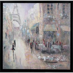 Art Maison Canada Voie de Paris par Peter Kyjanista encadré peinture impression sur toile enveloppé