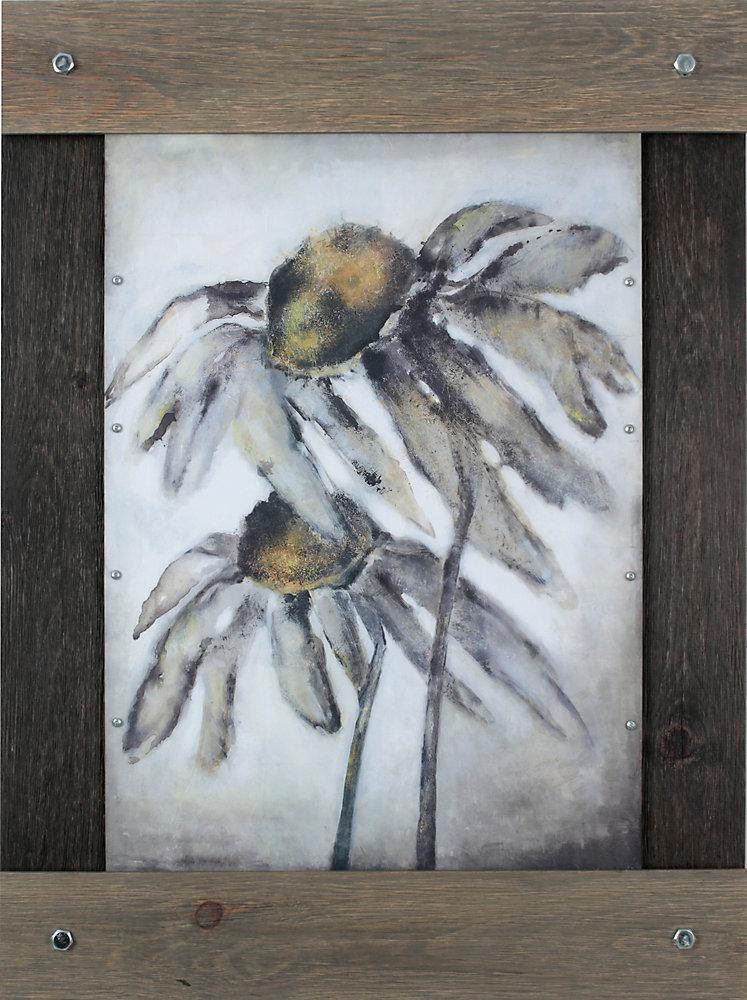 Sun Flowerby Tina O. encadré peinture impression