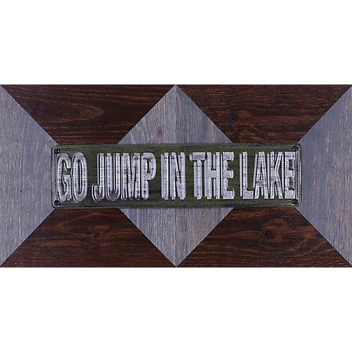 """11.25"""""""" H x 22.25"""""""" W Ready to Hang 'Go Jump In Lake' by Sam O. Mixed Metal Art DÃcor"""