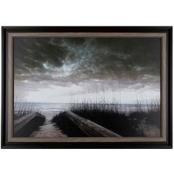 """Art Maison Canada 28,25"""" H x 40,25"""" W prêt à accrocher «Path to Lake» par P.T Turk encadré tirage photographique"""