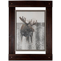 "Art Maison Canada 46"" H x 33.25"" W Ready to Hang 'Moose' by Daniel St Amant Wildlife Fresco Wall Art"