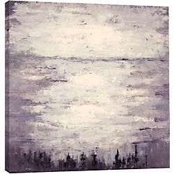 """Art Maison Canada 40"""" H x 40"""" W Hand Painted Canvas 'Lake In The Afternoon' by Anastasia C."""