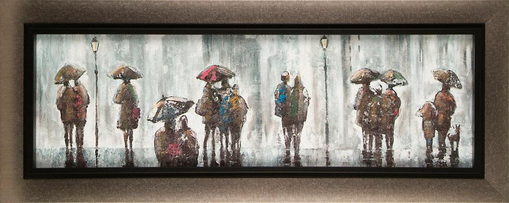 Jour de pluie par C. Anastasia encadrée peinture Print