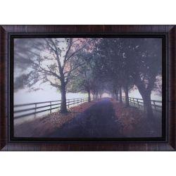 """Art Maison Canada H 30"""" x 42"""" W prêt à accrocher «Country Road» par P.T. Turk Photograhy mat encadré Wall Art"""