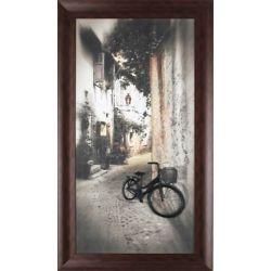 """Art Maison Canada H 39"""" x 21"""" W, «Antique Bike» par P.T. Turk métal ornée photographie sur toile encadrée"""