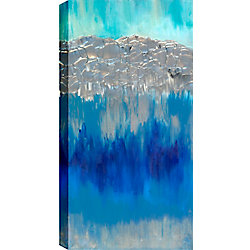 Art Maison Canada Mountains and Water Abstract, Gallary Wrapped Canvas Wall Art 20X60
