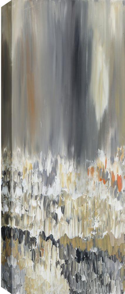Art Maison Canada Narrow Reflections Abstract, Gallary Wrapped Canvas Wall Art 20X60