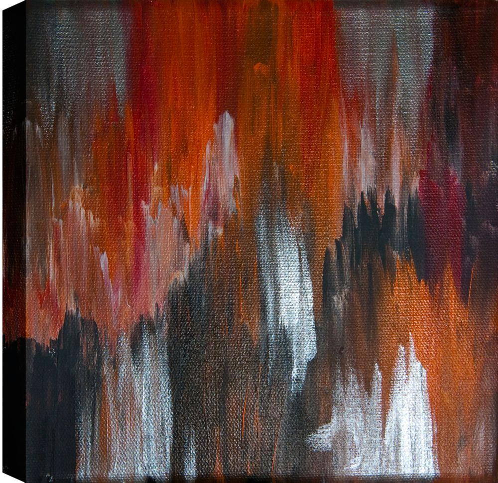 Darker Abstract, Gallary Wrapped Canvas Wall Art 24X24