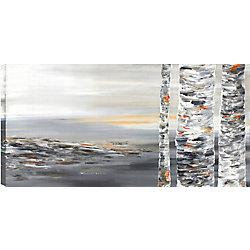 Art Maison Canada Beside the Trunk I Abstract, Gallary Wrapped Canvas Wall Art 24X48
