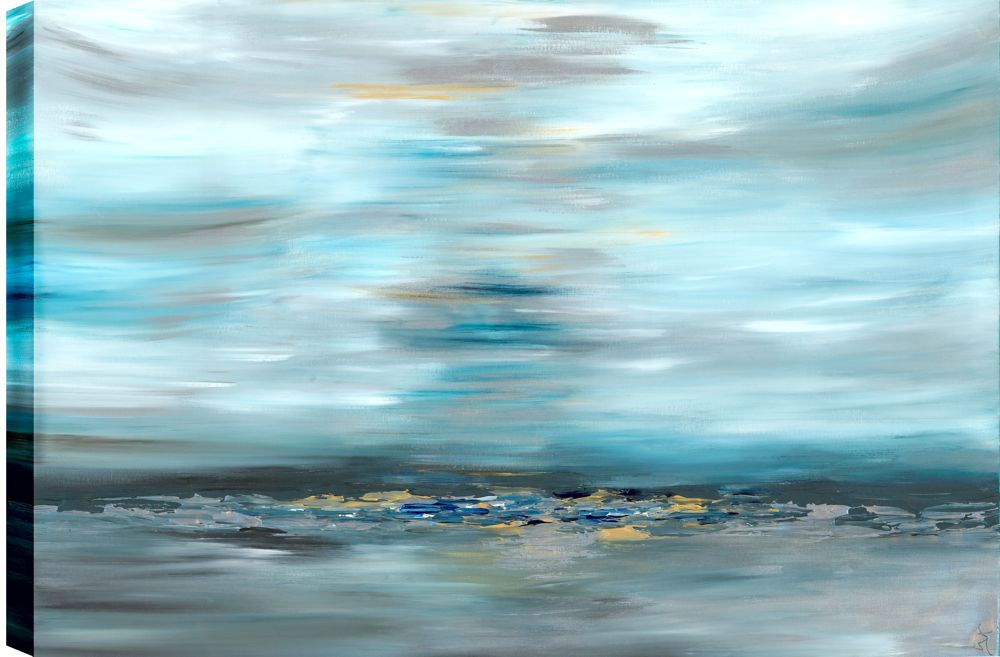 Art Maison Canada Distant Rocks Abstract, Gallary Wrapped Canvas Wall Art 30X40