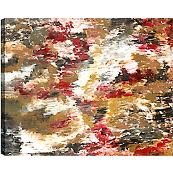 Art Maison Canada Red Forest II Abstract, Gallary Wrapped Canvas Wall Art 30X40