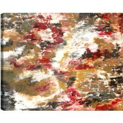 Art Maison Canada Forêt rouge II Résumé, Gallary enveloppé Art mur de toile 30 X 40