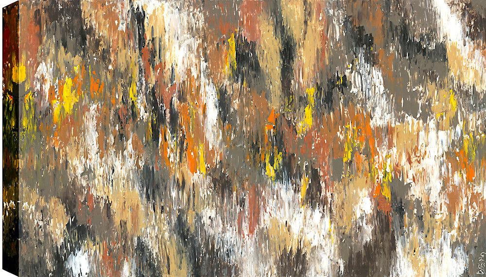 Forêt de jaune que j'ai résumé, sticker Gallary enveloppé toile 30 X 40