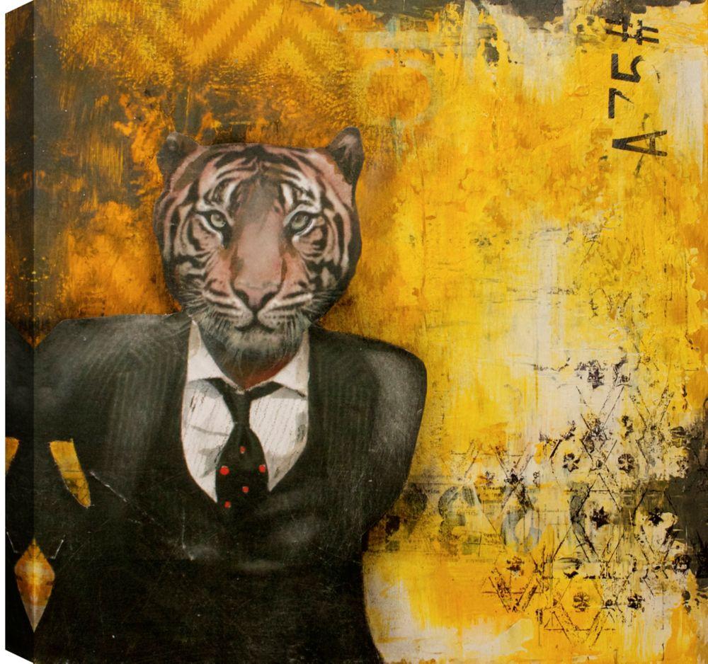 Art Maison Canada Lion Head, Abstract, Canvas Print Wall Art 24X24