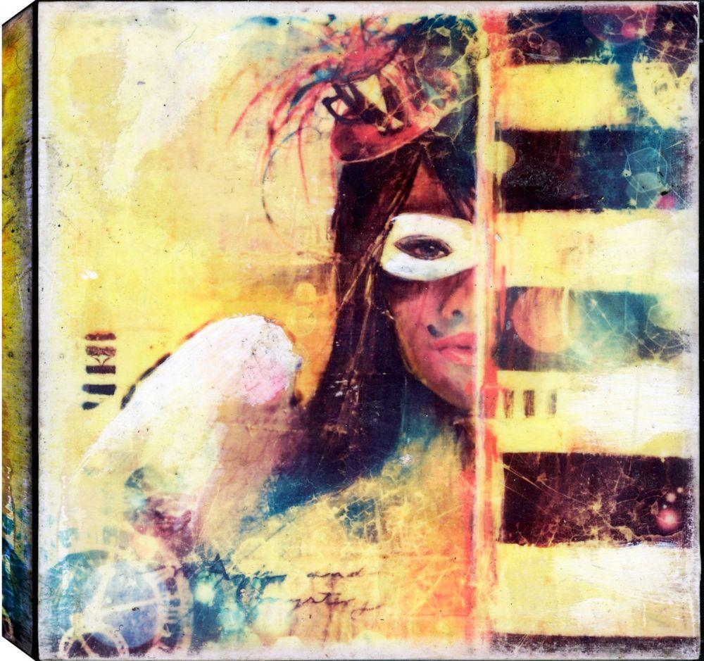 ArtMaison.ca Half Face, Abstract, Gallary Wrapped Canvas Wall Art ...