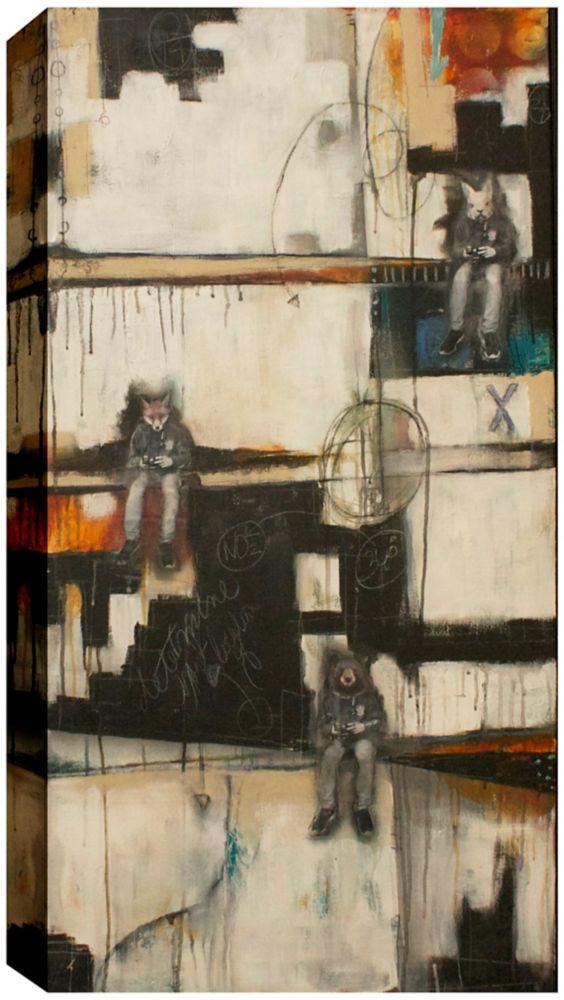 Art Maison Canada Splitting the Atom, Canvas Print Wall Art 24X48