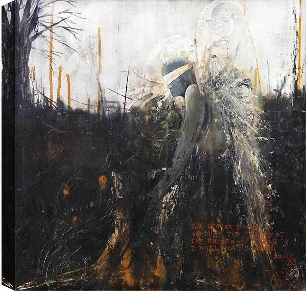 Blind Faith, Abstract, Canvas Print Wall Art 36X36