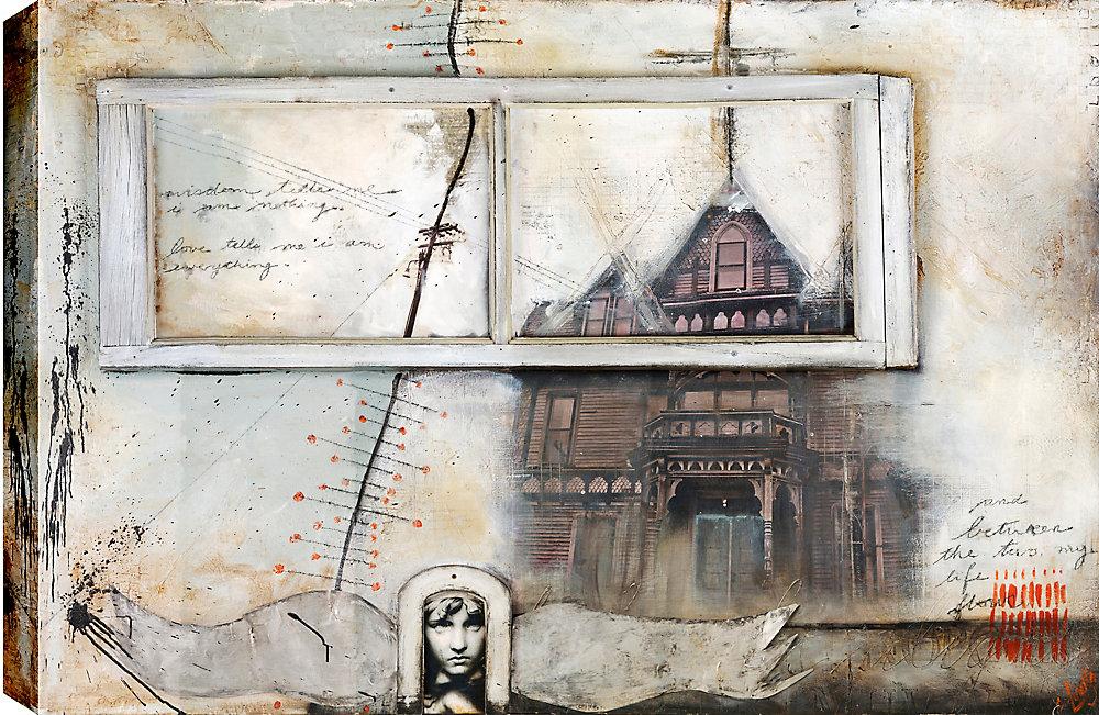Sanctuary, Abstract, Canvas Print Wall Art 34X46