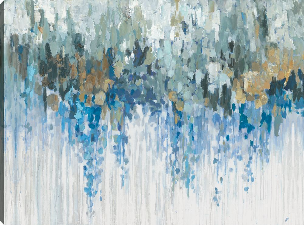 Blue Visuals, Abstract, Gallary Wrapped Canvas Wall Art 30X40