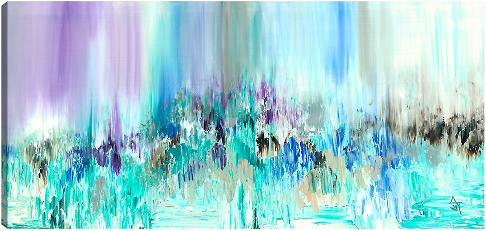 Multiple Colors, Abstract, Gallary Wrapped Canvas Wall Art 30X60