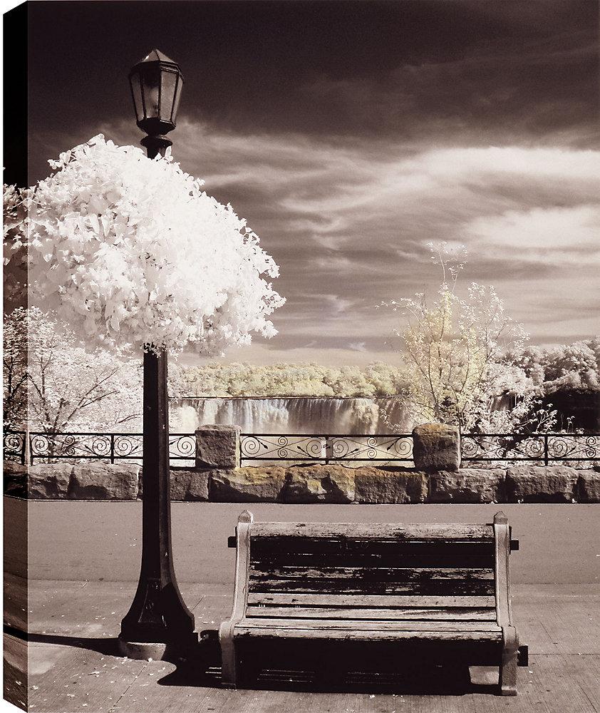 Paysage cascade ' épreuve photographique sur toile enveloppé
