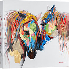 Colored Horses Graphic Art on Wrapped Canvas