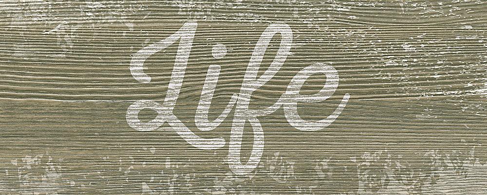 Vie textuelle Art sur toile enveloppé