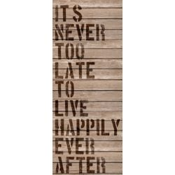Art Maison Canada It's Never Too Late' Textual Art on Wrapped Canvas