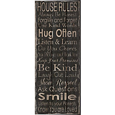 Smile' Textual Art on Wrapped Canvas