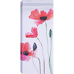 Art Maison Canada 'Red Tall Flowers I' by Samantha T. Wall Art on Wrapped Canvas