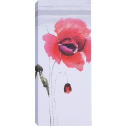 Art Maison Canada 'Red Tall Flowers II' by Samantha T. Wall Art on Wrapped Canvas