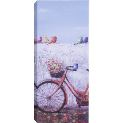 Art Maison Canada Bike with Flower Basket Painting Print on Wrapped Canvas