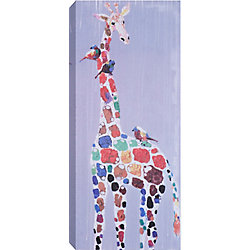 Art Maison Canada Giraffe Spots Painting Print on Wrapped Canvas
