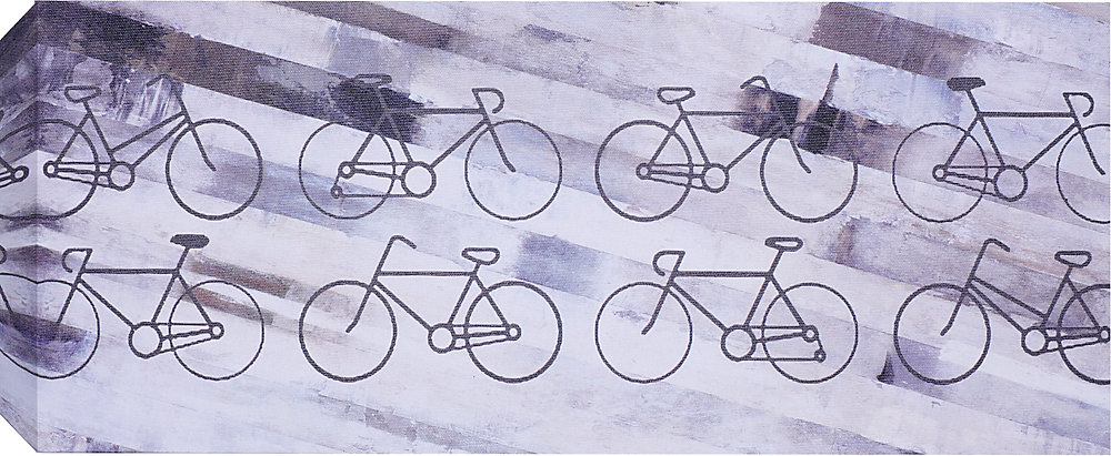 Bikes Wall Art on Wrapped Canvas
