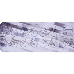 Art Maison Canada Bikes Wall Art on Wrapped Canvas