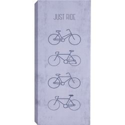Art Maison Canada Just Ride Wall Art on Wrapped Canvas