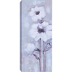 Art Maison Canada 'White Flowers' by Anastasia C. Painting Print on Wrapped Canvas