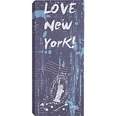 New York Art graphique sur toile enveloppé de lamour